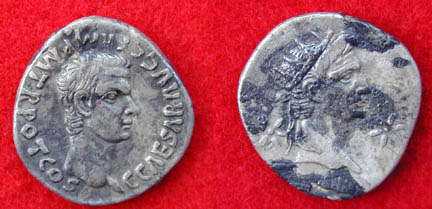 Item # 1370906153 - Caligula denarius (listed as Germanicus)